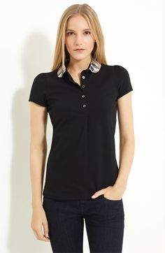 Burberry Brit Check Collar Polo at Nordstrom.