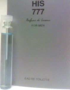 """His 777 Parfums De Laroma Cologne for Men 6 Ml .20 Oz Eau De Toilette Deluxe Sampler Vial Mini by Parfums de Laroma. $1.50. Larger than a normal miniature. Free Shipping for any additional item purchased from BeautySCENTRAL for US Residents. Perfect for Travel or Sampling. 4X the size of a regula vial. Product Description Due to the low cost nature and high demand for product samples, returns are not accepted for this item. Samples may be labelled """"Not For Sale"""" by man..."""