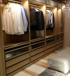 Walk-in closet PAX wardrobe solution. IKEA Amsterdam #interiordesign #JanineJacobs