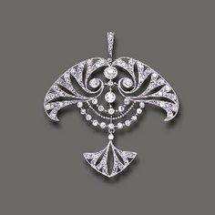 Henri Vever, ART NOUVEAU DIAMOND PENDANT