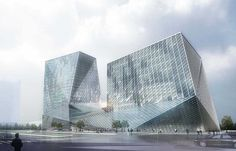 Datong Twin Towers Shanxi Province, China - design by Plasma Studio