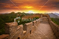 Great Wall at Sunset Royalty Free Stock Photo