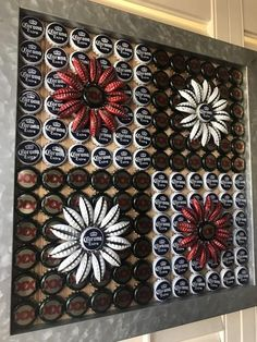 Just think about only DIY Bottle cap projects, there will be lots of bottle caps in your home and the time to use them has come. Beer Cap Crafts, Cork Crafts, Diy And Crafts, Bottle Top Crafts, Bottle Cap Projects, Beer Cap Art, Beer Caps, Beer Bottle Caps, Bottle Cap Art