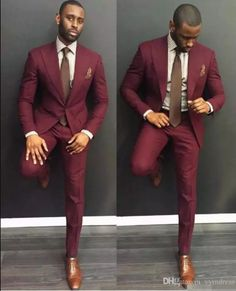 62d228bee0b Classy Burgundy Wedding Mens Suits Slim Fit Bridegroom Tuxedos For Men Two  Pieces Groomsmen Suit Cheap Formal Business Jackets With Tie