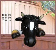 Lebensgrosse Kuh: Kuh-Kopf für den Zaun Home Online Shop, Sonic The Hedgehog, Christmas Ornaments, Holiday Decor, Fictional Characters, Cow, Creative Ideas, Figurine, Christmas Jewelry