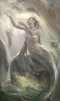 art, illustration, // Mermaid