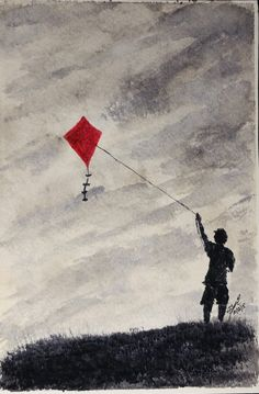 Go Fly a Kite - Watercolor - 6x9