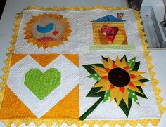 Here's a little project I quilted yesterday! by ruthiequilts, via Flickr