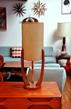 lamp collection ~ this mid-century modern lamp reminds me of a rocket with the tapered legs