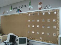 Love the S'mores for the Letters on the Word Wall {Word Forest} for a Camping Theme