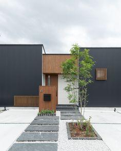 Modern Japanese Architecture, Architecture Plan, Arch Interior, Home Interior Design, Dream Home Design, House Design, Modern Driveway, Japan Interior, Modern Mailbox