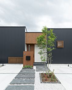 CASE683 丘の上のハウス Dream House Interior, Dream Home Design, House Design, Facade Design, Architecture Design, Intranet Portal, Modern Driveway, Modern Japanese Architecture, Modern Tiny House