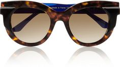 Thierry Lasry Roundframe Acetate Sunglasses in Brown   Lyst