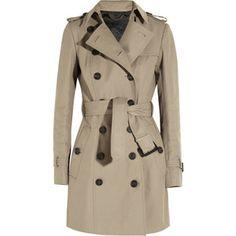 Burberry Prorsum Mid-length gabardine trench coat