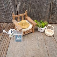 make a fimo hat! Miniature Garden Chair Set, 7 pcs.