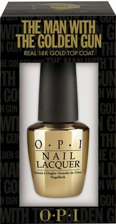 OPI Debuts 18k Gold Nail Polish named for the 1974 Bond film 'The Man With The Golden Gun' Talk about luxe!