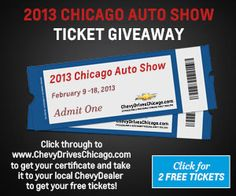 2013 Chicago Auto Show Giveaway!