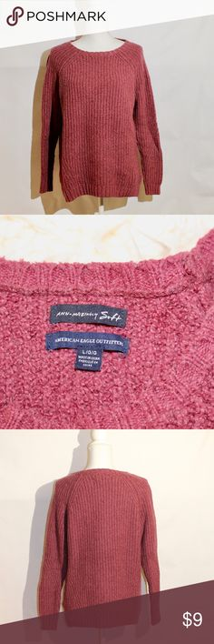 "American Eagle Sweater Soft Great condition Normal wear  No tears or stains  Light piling   - Smoke and pet-free home  - I love bundles and offers! Send them my way! - Each item is wrapped with love and packaged with care   ""From one loving closet to another"" American Eagle Outfitters Sweaters"