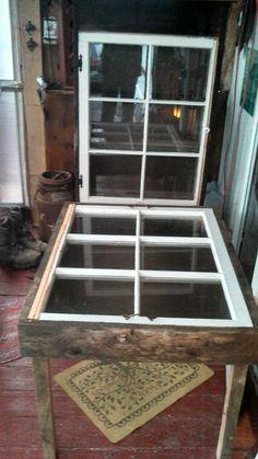barnwood window table