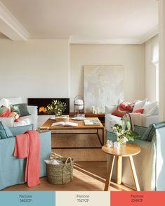 Τρία χρώματα που μεταμορφώνουν το σαλόνι σας Living Room Paint, Decoration, Sweet Home, Desk, Table, House, Furniture, Home Decor, Space