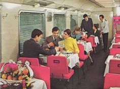 Eurail Dining Car in 1974