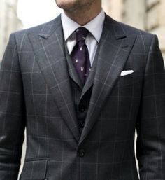 Windowpane--S--U--I--T--Purple Tie