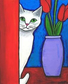 cat still life.