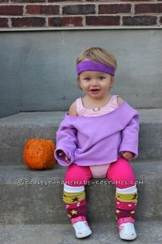 cute baby aerobic instructor costume lets get physical physical diy toddler halloween - Last Minute Toddler Halloween Costumes