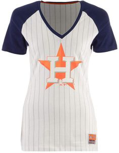 b0c2c92f81a Majestic Women s Houston Astros Every Aspect Pinstripe T-Shirt   Reviews -  Sports Fan Shop By Lids - Women - Macy s