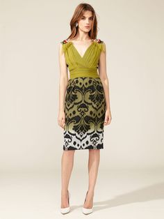 Matthew Williamson Ombre Ikat Weave V-Neck Dress