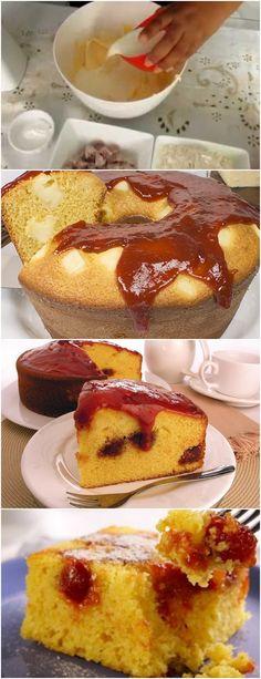 Bolo Romeu e Julieta ❤️ VEJA AQUI>>>Bater na batedeira o açúcar e manteiga até ficar branco, mais ou menos 10 minutos Acrescentar na batedeira alternadamente os ovos, a farinha e o leite #receita#bolo#torta#doce#sobremesa#aniversario#pudim#mousse#pave#Cheesecake#chocolate#confeitaria