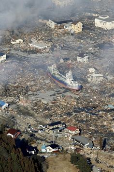 See The Fukushima Disaster Zone Then And Now In 10 Striking GIFs Images show the road to recovery five years after the devastating tsunami. Fukushima, Japan Earthquake, Earthquake And Tsunami, Abandoned Ships, Wild Weather, Oui Oui, Natural Disasters, World History, Mother Nature