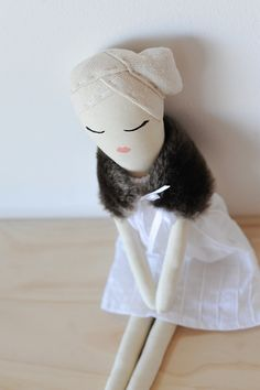 Handmade Rag doll one of a kind Cloth doll by SaraRosettaHandmade
