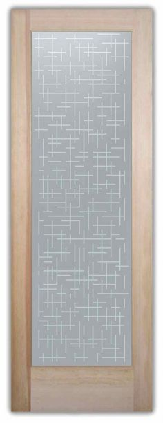 Grid Fine Contemporary Design Interior Etched Glass Doors Glass Doors YOU customize! Custom designed, quality sandblast etched glass designs in any decor!