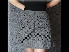 Gilet Crochet, Crochet Ripple, Crochet Diy, Crochet Wool, Crochet Cardigan, Crochet Skirt Pattern, Crochet Skirts, Crochet Stitches Patterns, Crochet Clothes
