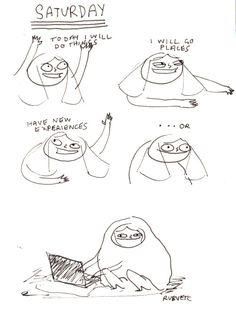 rubyetc:  i know it's monday but shh  It is Saturday now, yes