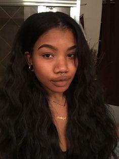 Beautiful Black Girl, Pretty Black Girls, Pretty People, Beautiful People, 3 4 Face, Chica Cool, Hair Makeup, Eye Makeup, Brown Skin Girls