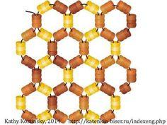 Honeycomb Netting. Beading Cartoon