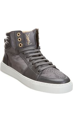 The kind of sneakers I'd like to add to my closet. YSL Malibu high tops.
