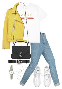 """Untitled #3954"" by theeuropeancloset on Polyvore featuring Gucci, MANGO, Yves Saint Laurent and H&M"