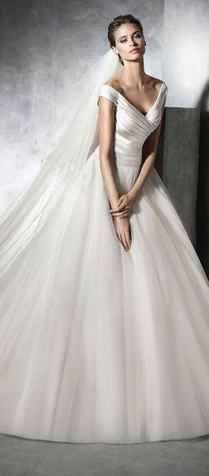 pronovias satin and tulle 2016 wedding dresses PRESTA_B