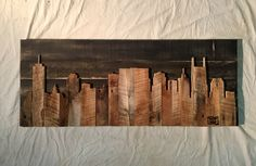 Hand Crafted Nashville 48 Skyline by legacybuilding on Etsy
