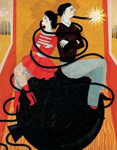 Women's Magazines. Illustration.  by Gosia Herba, via Behance