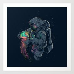 Buy Jellyspace Art Print by angoes25. Worldwide shipping available at Society6.com. Just one of millions of high quality products available.
