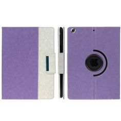 For+iPad+Air+Purple+Rotatable+Denim+PU+Leather+Smart+Cover+Case+with+Holder,+ENK-3155