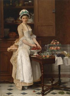 Maid with fruit