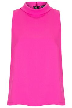 Sleeveless Roll Neck Shell Top - Tops - Clothing - Topshop USA.  I want this in every colour under the rainbow.