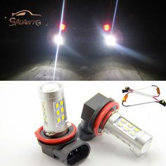Free shipping, 2x H11 LED Projector Fog Light DRL 12W No Error For Audi A4 A6 A3 A5 S5 Q5 Q7 TT