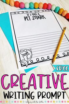 """It is important that children get plenty of opportunities to practice all different types of writing. They need the chance to practice creative, persuasive, informative, and journal writing. This freebie is a fun little creative writing prompt. Let them use their creativity to respond to the prompt…""""If I had a Pet Shark."""""""
