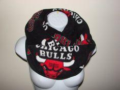 Chicago Bulls Infinity Scarf, Black Red Fleece Medium Weight, Basketball Fan Cowl Circle Loop Woman Man Unisex 2013 Fall 2014 Winter Fashion on Etsy, $25.50